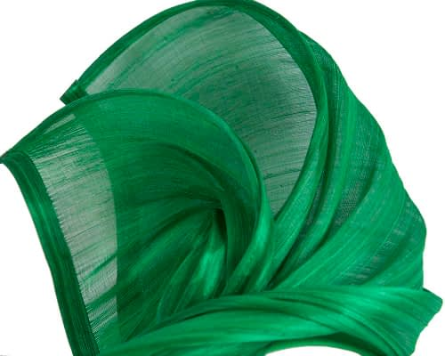 Fascinators Online - Green twists of silk abaca fascinator by Fillies Collection 3