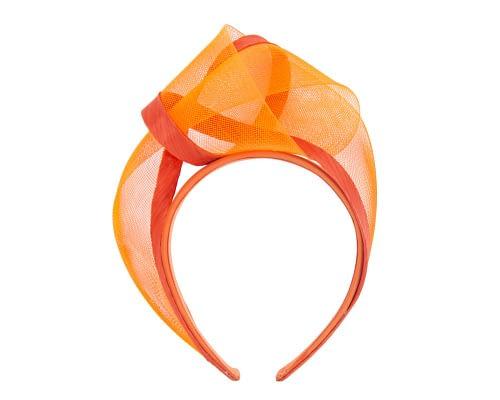 Fascinators Online - Orange turban headband by Fillies Collection 2