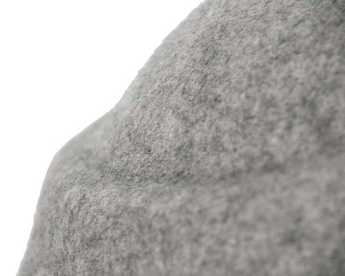 Fascinators Online - Designers grey marle felt hat 4