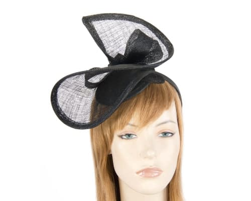 Fascinators Online - Black sinamay racing fascinator by Max Alexander 20