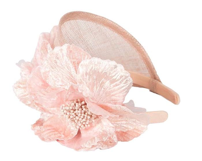 Fascinators Online - Blush flower headband fascinator by Max Alexander 3