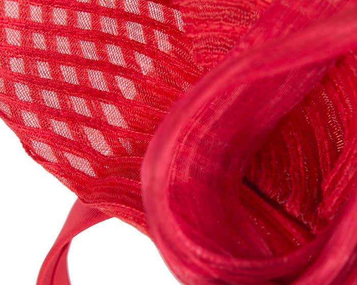 Fascinators Online - Tall Australian Made red racing fascinator by Fillies Collection 3
