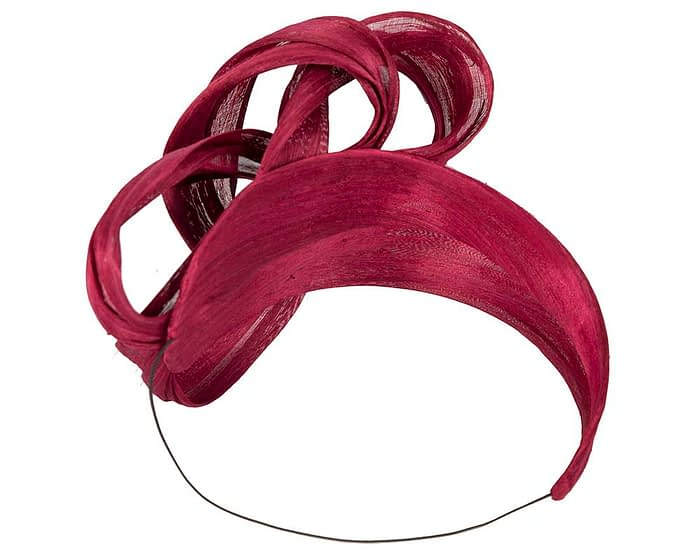 Fascinators Online - Burgundy wine retro headband fascinator by Fillies Collection 4