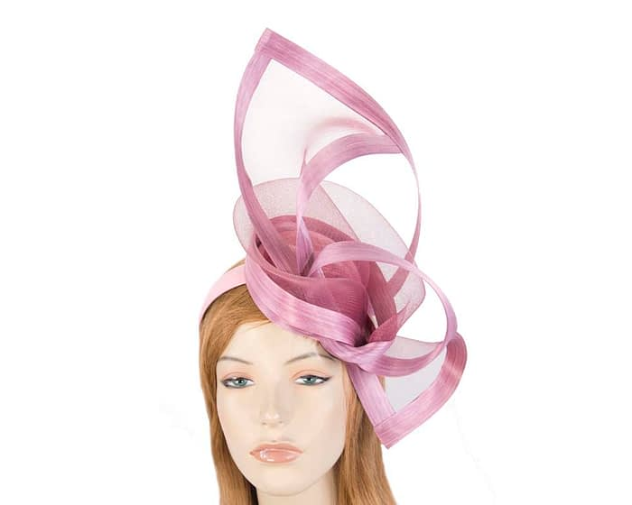 Fascinators Online - Edgy dusty pink fascinator by Fillies Collection 1
