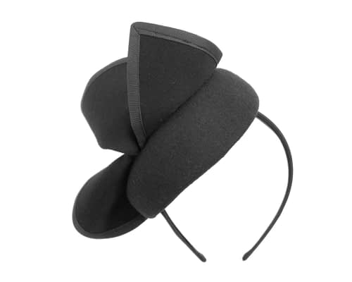 Fascinators Online - Black felt pillbox fascinator by Fillies Collection 3