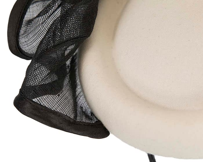 Fascinators Online - Exclusive cream & black winter fascinator by Fillies Collection 5