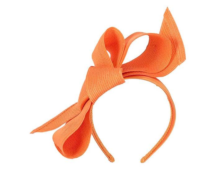 Fascinators Online - Large orange bow fascinator by Max Alexander 2