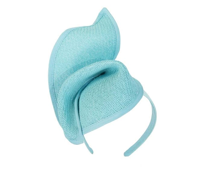 Fascinators Online - Turquoise twisted fascinator by Max Alexander 2