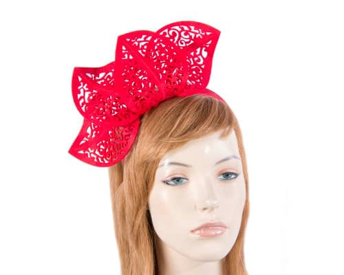 Fascinators Online - Red laser-cut racing fascinator 1