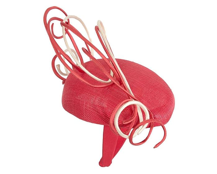 Fascinators Online - Designers red & nude racing fascinator by Fillies Collection 4