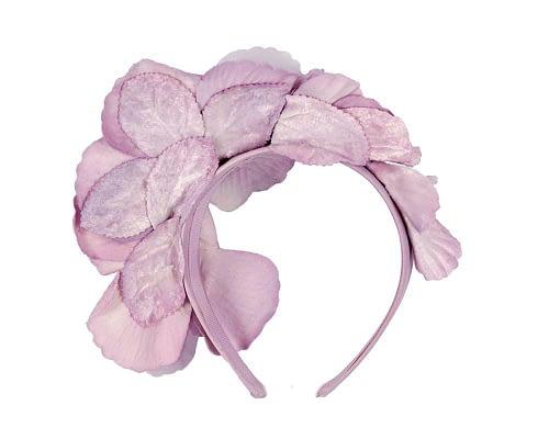 Fascinators Online - Lilac flowers on the headband 4