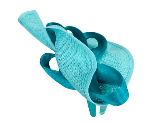 Fascinators Online - Turquoise fascinator with bow by Fillies Collection 4