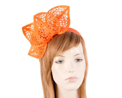 Fascinators Online - Burnt Orange laser-cut racing fascinator 2
