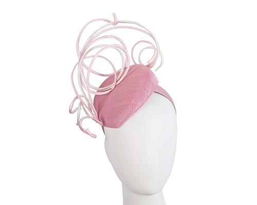 Fascinators Online - Designers pink & cream racing fascinator by Fillies Collection 1