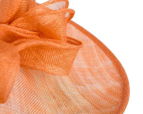 Fascinators Online - Wide brim orange sinamay racing hat by Max Alexander 5