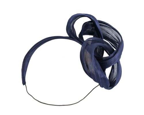 Fascinators Online - Navy retro headband fascinator by Fillies Collection 2