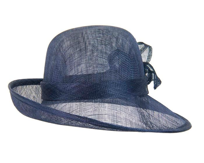 Fascinators Online - Navy cloche spring fashion hat by Max Alexander 4