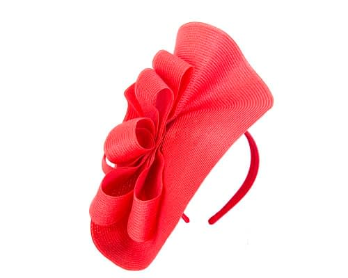 Fascinators Online - Large red fascinator with loops by Max Alexander 2
