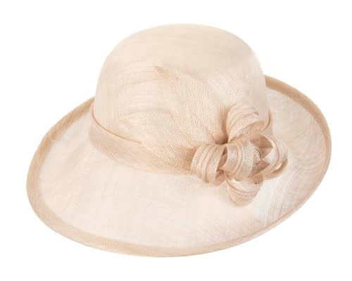 Fascinators Online - Nude cloche spring fashion hat by Max Alexander 3