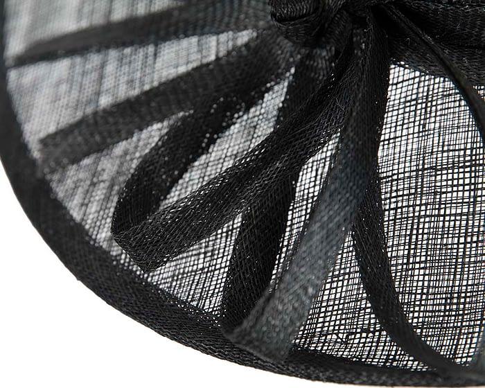 Fascinators Online - Black ladies sinamay racing hat by Max Alexander 5