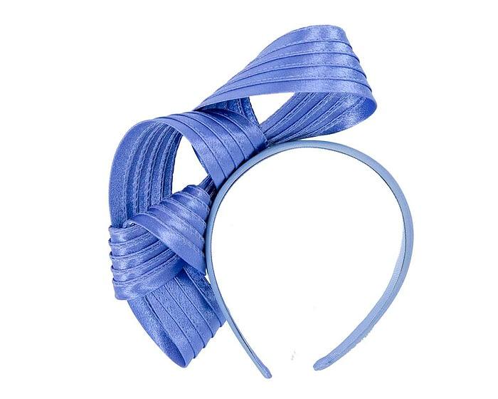 Fascinators Online - Twisted blue racing fascinator by Max Alexander 4