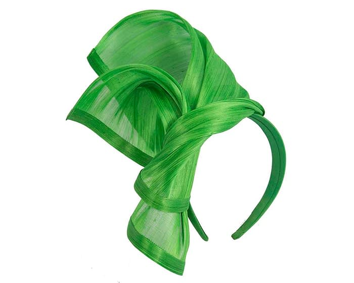 Fascinators Online - Lime twists of silk abaca fascinator by Fillies Collection 2