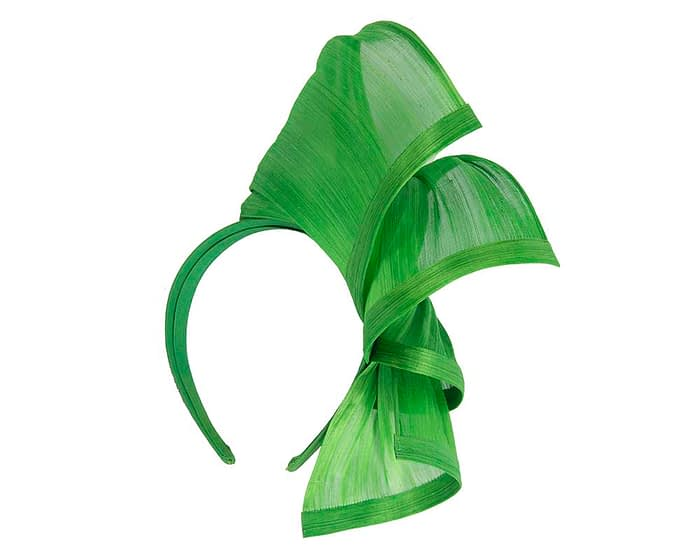 Fascinators Online - Lime twists of silk abaca fascinator by Fillies Collection 4