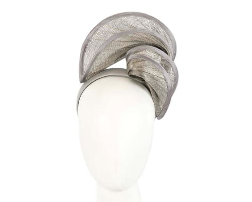 Fascinators Online - Silver headband racing fascinator by Fillies Collection 25