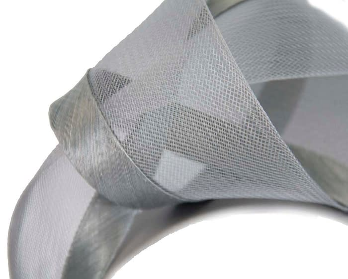 Fascinators Online - Silver turban headband by Fillies Collection 3