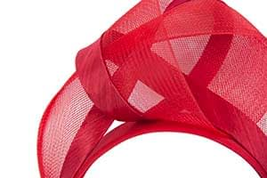 Fascinators Online - Red turban headband by Fillies Collection 3