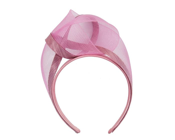 Fascinators Online - Dusty pink turban headband by Fillies Collection 2