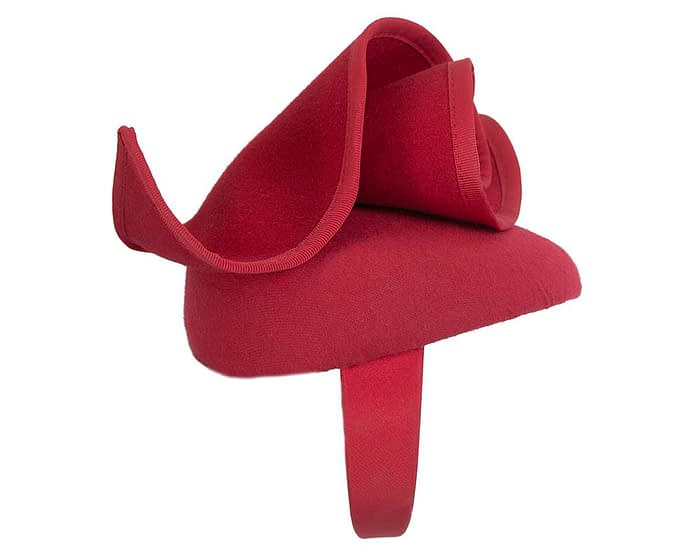 Fascinators Online - Red felt pillbox fascinator by Fillies Collection 4