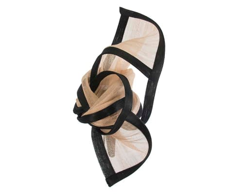 Fascinators Online - Tall black & nude designers fascinator by Fillies Collection 3