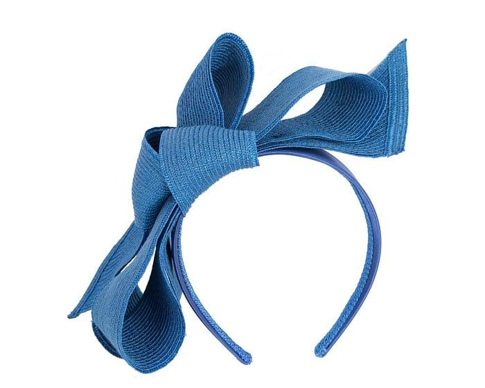 Fascinators Online - Large royal blue bow fascinator by Max Alexander 2