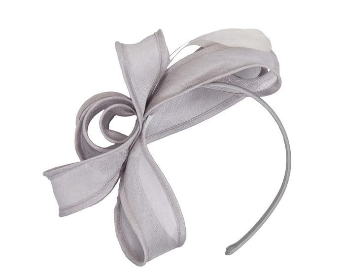 Fascinators Online - Silver organza bow fascinator by Max Alexander 2