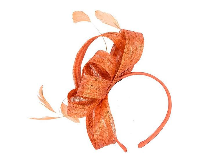 Fascinators Online - Orange loops racing fascinator by Max Alexander 2