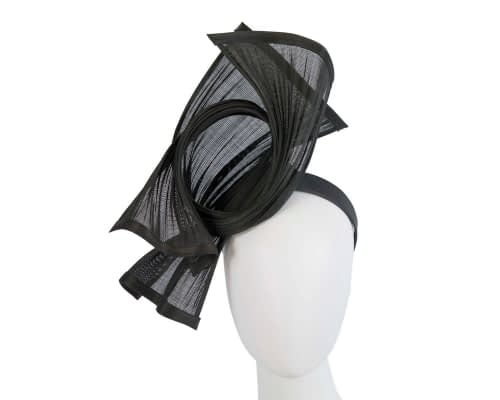 Fascinators Online - Black twisted jinsin racing fascinator by Fillies Collection 8