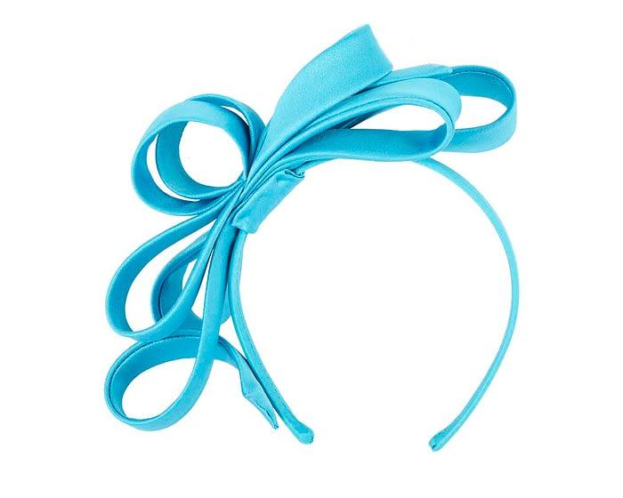 Fascinators Online - Blue bow racing fascinator by Max Alexander 2