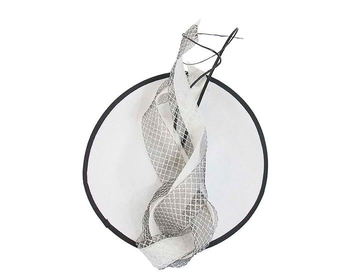 Fascinators Online - Large white & black plate fascinator by Max Alexander 3