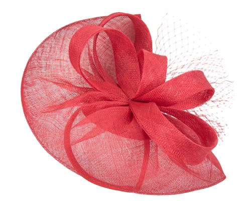 Fascinators Online - Large red sinamay fascinator by Max Alexander 2