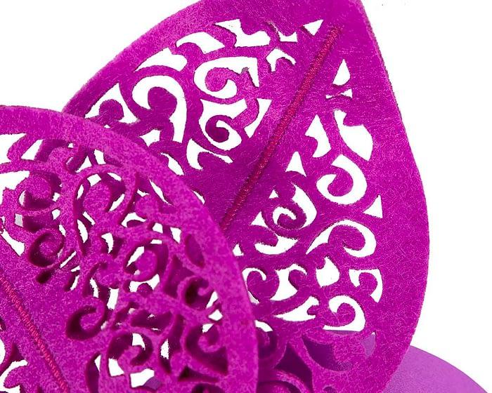 Fascinators Online - Purple laser-cut racing fascinator 3