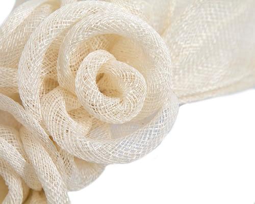 Fascinators Online - Large cream flower headband fascinator by Max Alexander 3