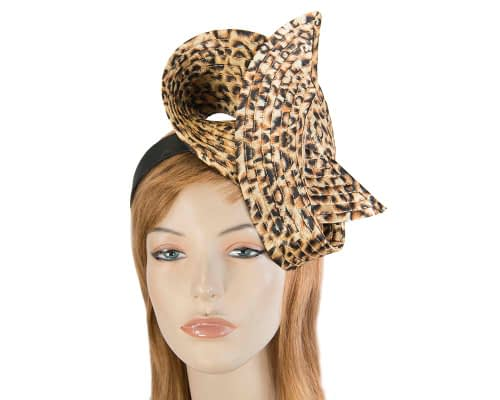 Fascinators Online - Twisted leopard fascinator 4
