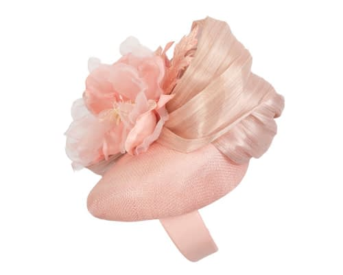 Fascinators Online - Pink pillbox fascinator with large flower by Fillies Collection 3