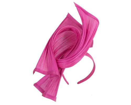 Fascinators Online - Twisted fuchsia jinsin racing fascinator by Fillies Collection 2