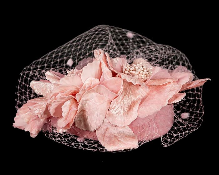 Fascinators Online - Pink Australian Made winter pillbox by Fillies Collection 5