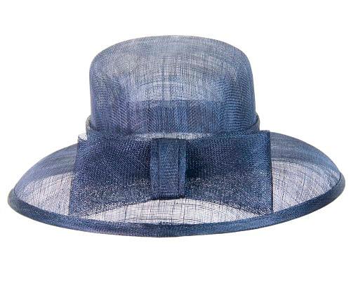 Fascinators Online - Navy sinamay hat by Max Alexander 4