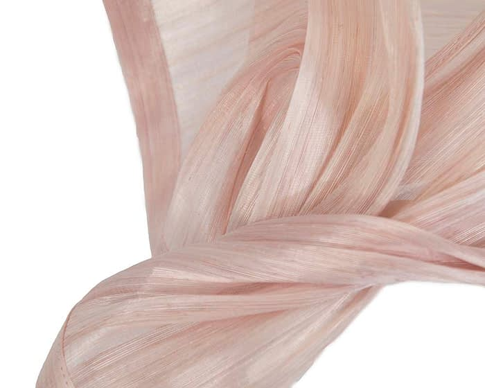Fascinators Online - Pink twists of silk abaca fascinator by Fillies Collection 3