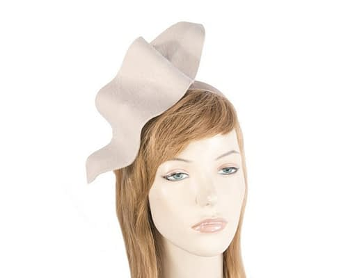 Sand felt winter fascinator J340BE