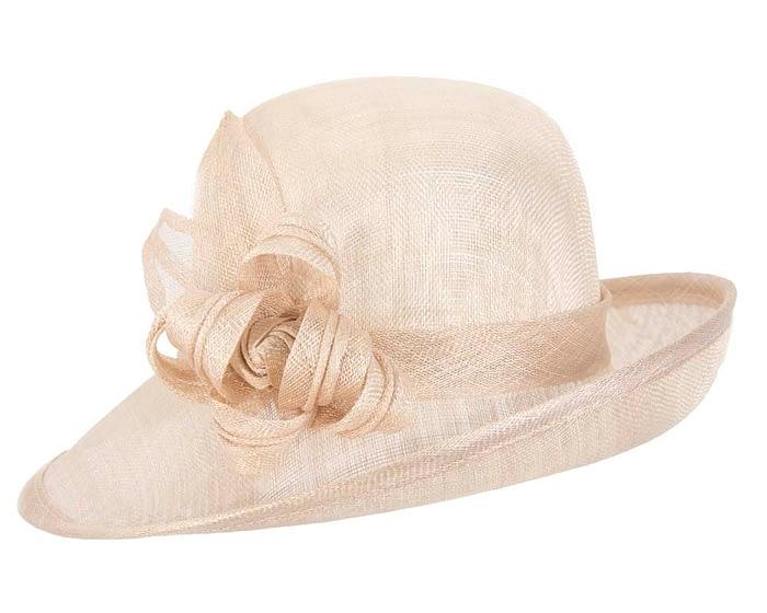 Fascinators Online - Nude cloche spring fashion hat by Max Alexander 2